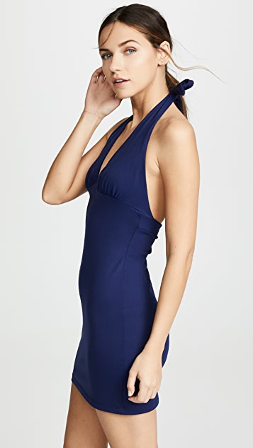 Susana Monaco Gathered Halter Mini Dress