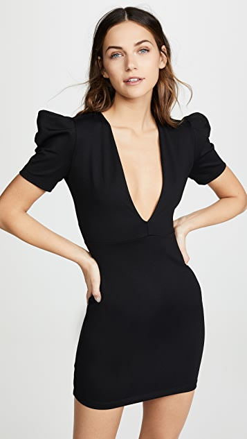 Susana Monaco Deep V Mini Dress