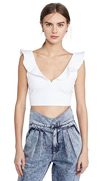 Susana Monaco Ruffled Crop Top