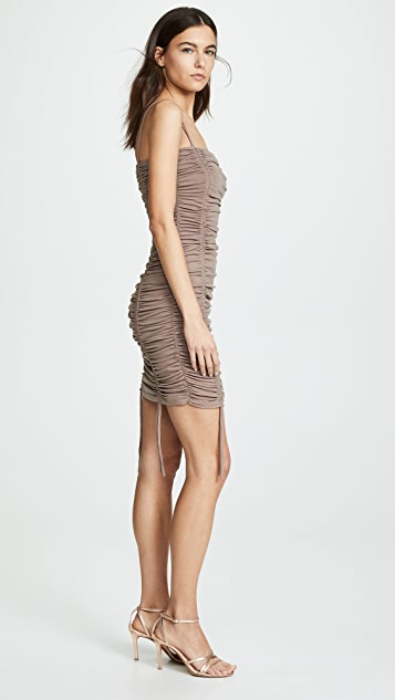 Susana Monaco Ruched Thin Strap Dress