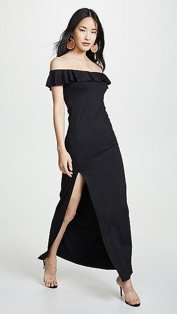 Susana Monaco Ruffle Slit Dress
