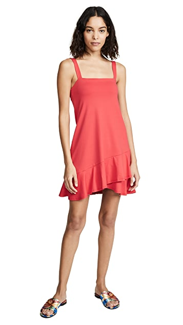 Susana Monaco Crossover Ruffle Dress