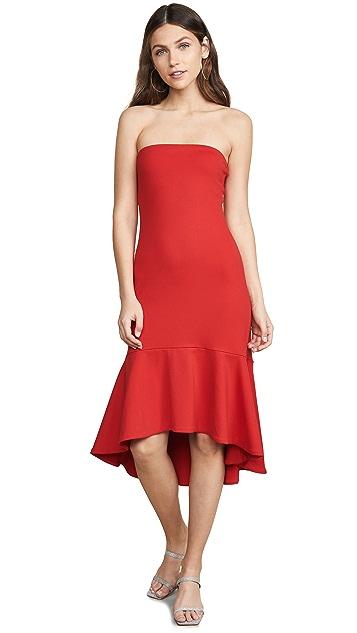 Susana Monaco Ruffle Hem Strapless Dress