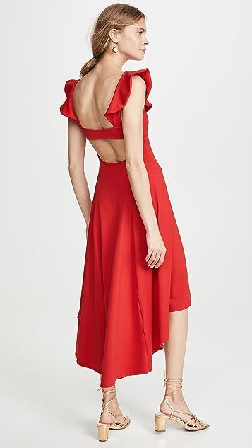 Susana Monaco Платье с вырезами, ремешком и оборками