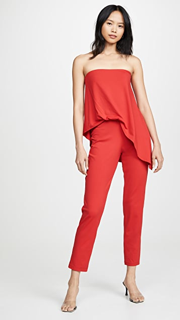 Strapless Tucked Overlay Jumpsuit by Susana Monaco