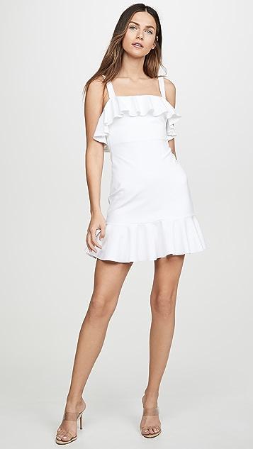 Susana Monaco Облегающее платье с двойными оборками
