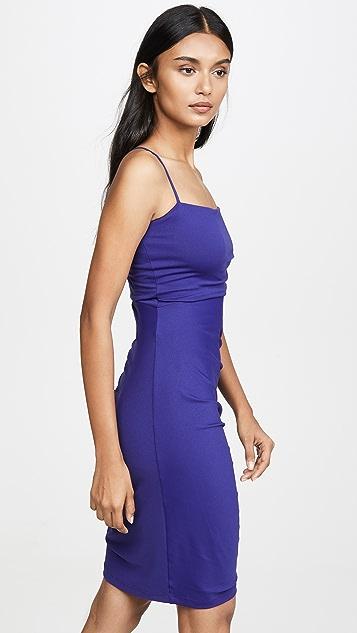 Susana Monaco Thin Strap Gathered Cutout Dress