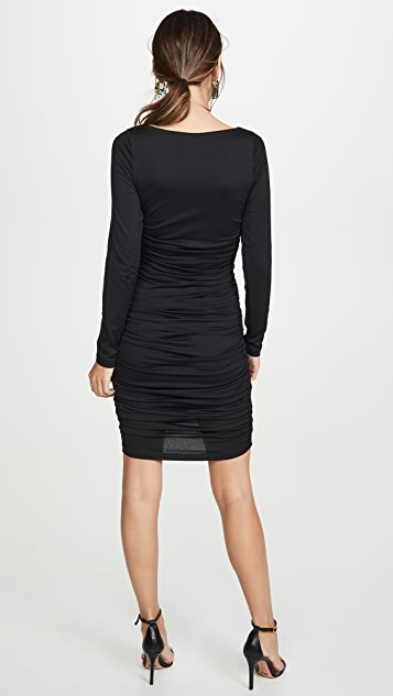 Susana Monaco Long Sleeve Cinched Front Dress