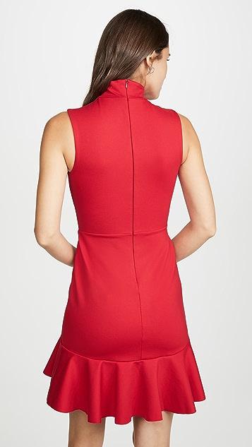 Susana Monaco Платье с округлыми оборками и вырезом под горло