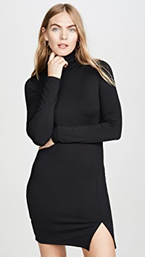 Long Sleeve Turtleneck Mini Dress