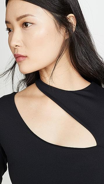 Susana Monaco Long Sleeve Slash Top