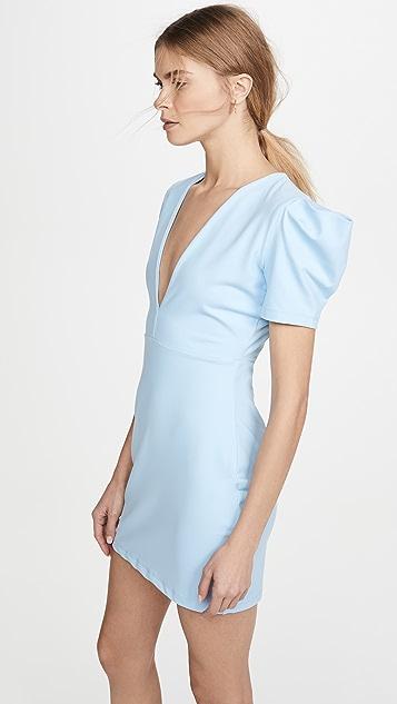 Susana Monaco Мини-платье с глубоким V-образным вырезом