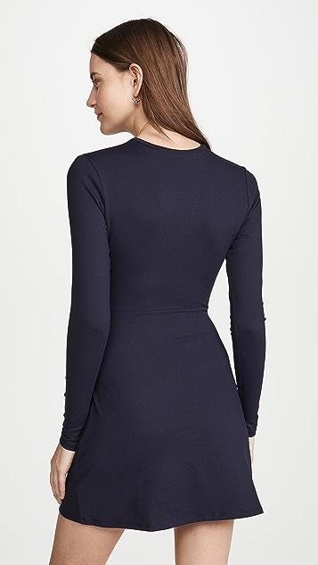 Susana Monaco Платье с длинными рукавами и узлом спереди