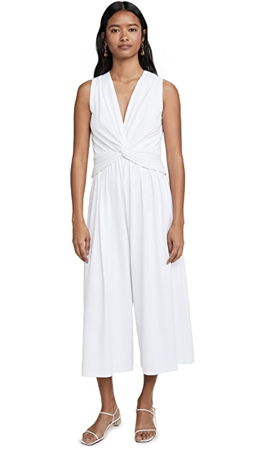 Susana Monaco Twist Front Sleeveless Jumpsuit