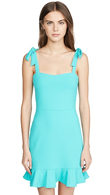 Susana Monaco Платье с оборчатым краем и завязками