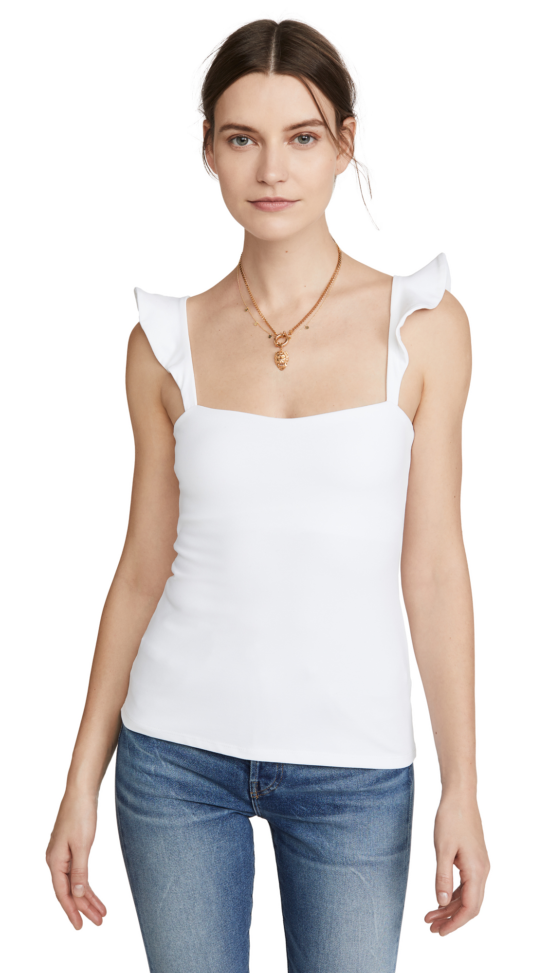 Susana Monaco Tank With Ruffle Sleeves