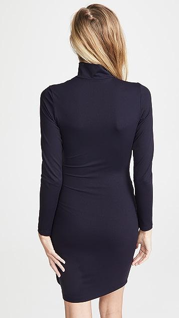 Susana Monaco 半高领重叠褶皱连衣裙