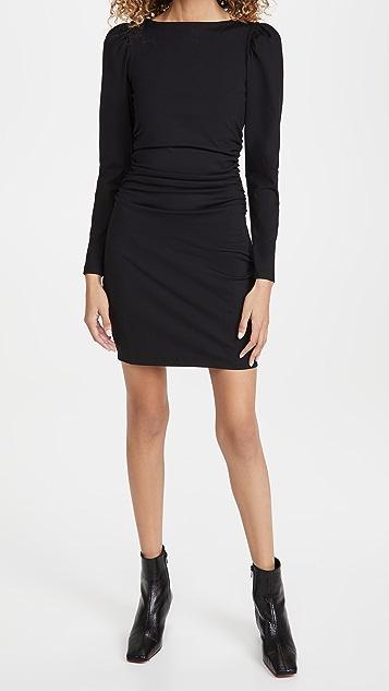 Susana Monaco Long Puff Sleeve Ruched Dress