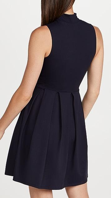 Susana Monaco Mock Neck Flare Dress