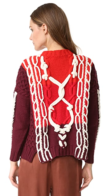 Spencer Vladimir The Knotty Marine Boxy Sweater