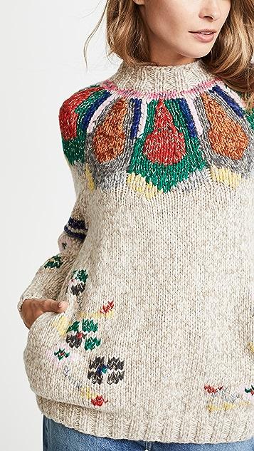 Spencer Vladimir Marti Cashmere Folk Sweater