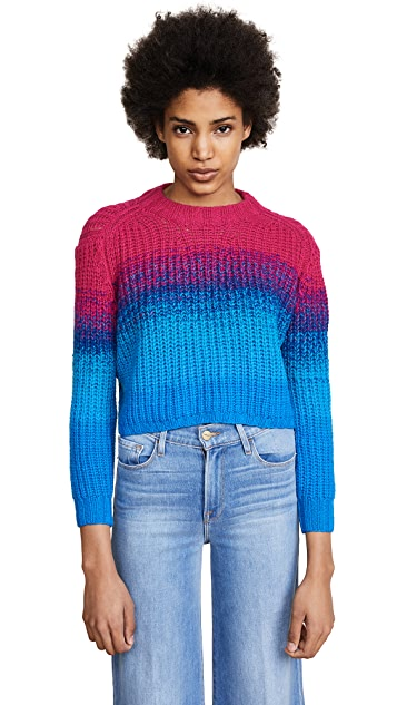 Spencer Vladimir Rainbow Rib Cashmere Top
