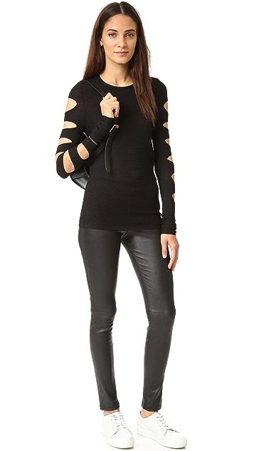 360 SWEATER Deana Cutout Sweater