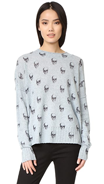 6168aac8c418 360 SWEATER Emely Skull Cashmere Sweater