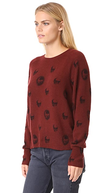 360 SWEATER Skull Cashmere Ebony Sweater