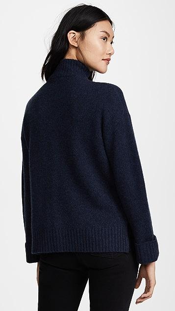 360 SWEATER Essence Half Zip Cashmere Sweater