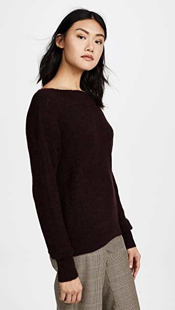 360 SWEATER Pearl Off Shoulder Cashmere Sweater