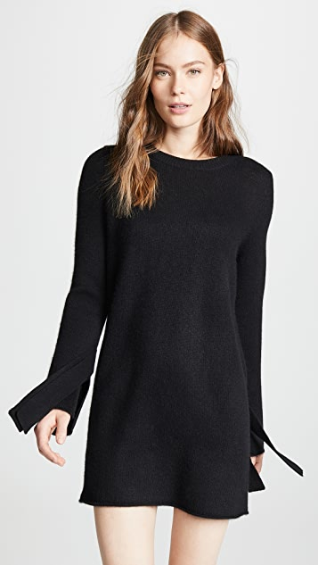 e880401603f 360 SWEATER Rowyn Cashmere Sweater Dress with Tie Sleeve