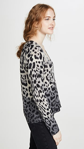360 SWEATER Lauren Leopard Cashmere Sweater