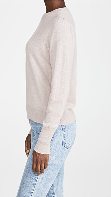 360 SWEATER Melany Puff Sleeve Cashmere Sweater