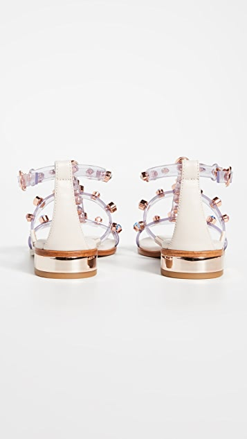 Sophia Webster Dina Gem 平底凉鞋