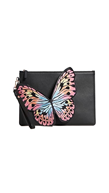 Sophia Webster Flossy Butterfly Embroidery Pouchette