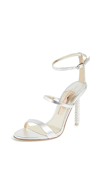 Sophia Webster 105mm Rosalind 水晶凉鞋