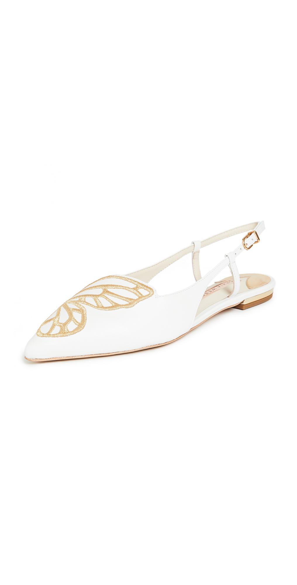 Sophia Webster Butterfly Embroidery Slingbacks