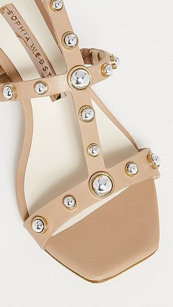 Sophia Webster Dina Stud Mid Sandals