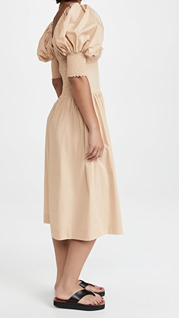 SWF Puff Sleeve Sweetheart Dress