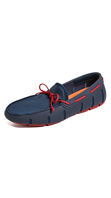 SWIMS Braided Lace Loafers