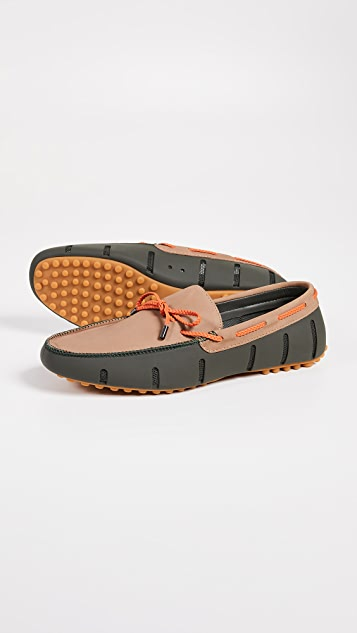 SWIMS Braided Nubuck Luxe Loafer Drivers
