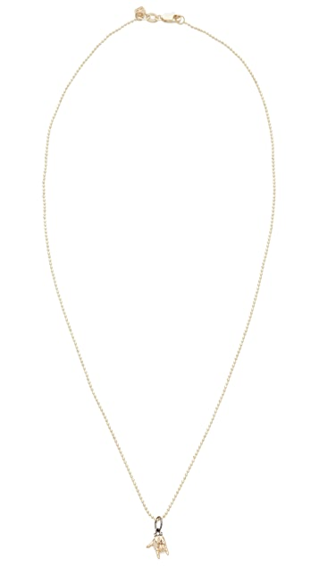Sydney Evan 14k Gold I Love You Sign Language Charm Necklace