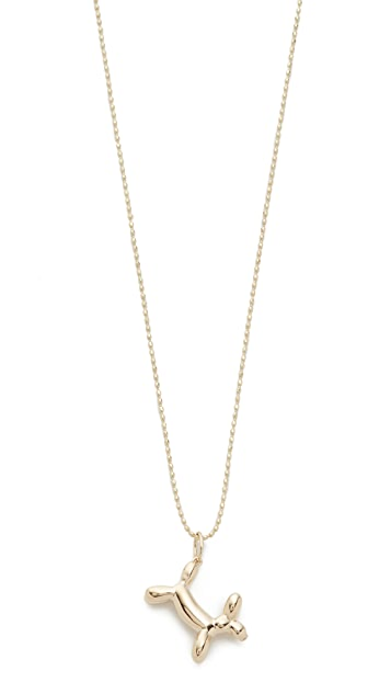 Sydney Evan 14k Gold Balloon Dog Charm Necklace