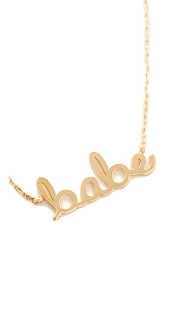 Sydney Evan 14k Gold Small Babe Necklace