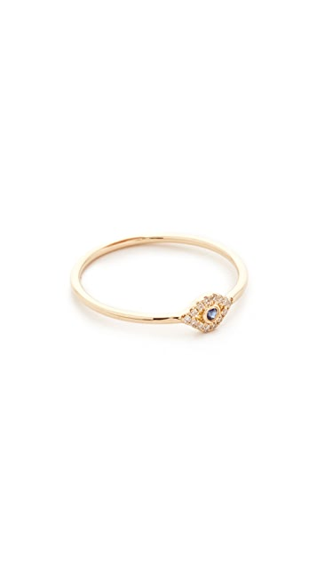 Sydney Evan 14k Gold Small Evil Eye Ring