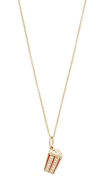 Sydney Evan Popcorn Charm Necklace