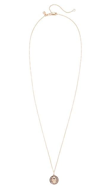 Sydney Evan Small Hamsa Medallion Charom Necklace