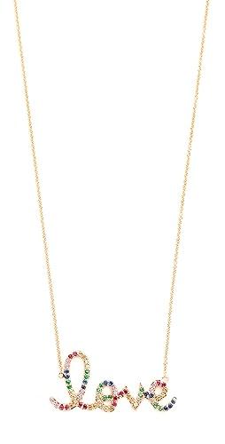Sydney Evan - 14k Gold Rainbow Love Necklace