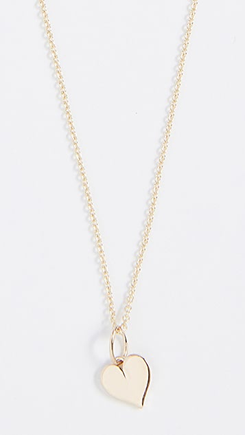 Sydney Evan Tiny Pure Heart Charm Necklace